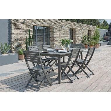 table oc 233 an en bois gris fonc 233 jardiland jardiland