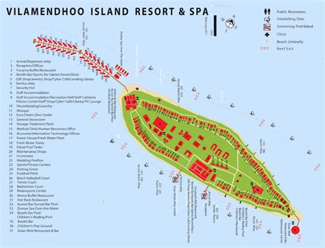 Floor Plan Of Spa by Maldives Resort Map Enlarged