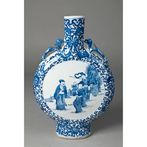 blue and white porcelain chinese blue and white porcelain flask