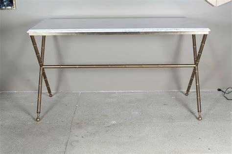 Faux Bamboo And Marble Console Table At 1stdibs Faux Marble Sofa Table