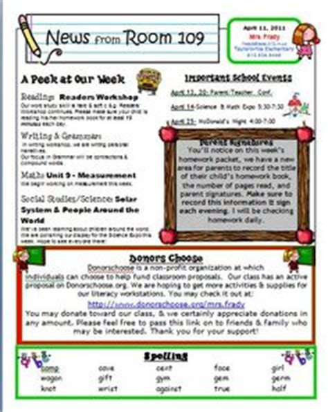 1000 Ideas About Weekly Newsletter Template On Weekly Newsletter Classroom