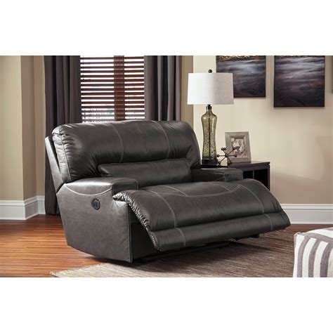 wide seat leather sofa signature design by mccaskill contemporary leather