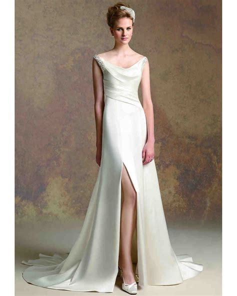 Wedding Dress With Slit by Front Slit Wedding Dresses Fall 2013 Martha Stewart
