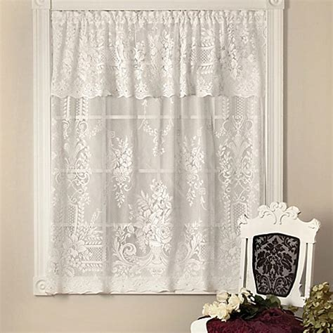 downton abbey curtains downton abbey aristocrat 18 inch window valance in white