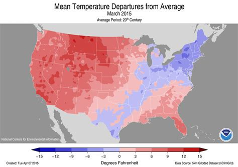 us average temperature map march national climate report march 2015 state of the