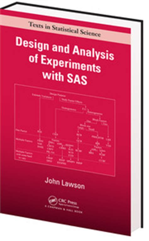 design of experiment book book design and analysis of experiments with sas