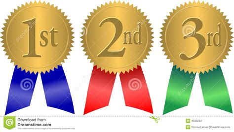 1st 2nd 3rd place ribbons clipart 47