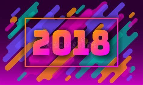 imagenes en movimiento año nuevo 2018 plantilla 2018 de la tarjeta de felicitaci 243 n del a 241 o nuevo