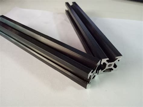 V Slot Aluminium Profile Extrusion Rail 2020 Black Ox Cnc Frame 100cm 1 negro v ranura de perfil de aluminio 2020 v slot rail de aluminio industrial perfiles de