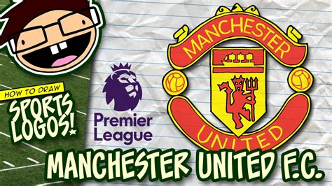 tutorial logo manchester united how to draw manchester united logo english premier league