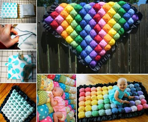 Easy Bathroom Makeover Ideas Wonderful Diy Colorful Baby Bubble Quilt