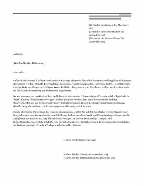 Brief Word Schreiben Serienbrief Schreiben Vorlage Zum Word 2013 Oder Neuer In Der Brief Vorlage