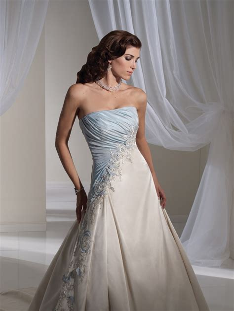 Light Blue Wedding Dress by Light Blue And White Combination Wedding Dress By