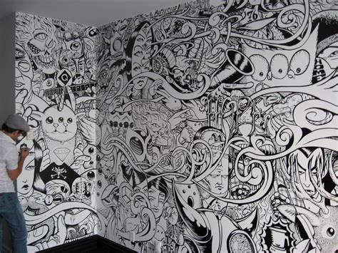doodle on wall visual the lost and found