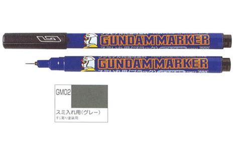 Gundam Marker Thin Type Black Gm301 mr hobby gundam marker pen painter gm02 thin grey gray color detail liner bandai