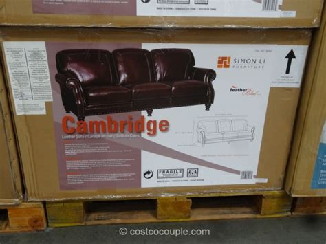 Simon Li Cambridge Leather Sofa Simon Li Leather Sofa Costco