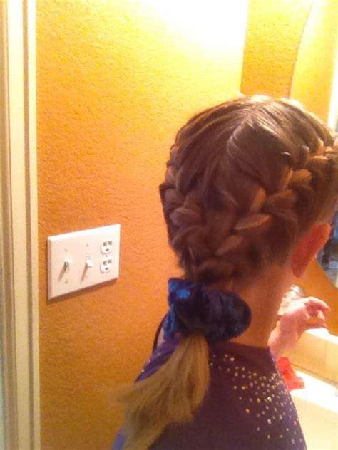 easy hairstyles for gymnastics meets gymnastics and hairstyles on pinterest