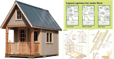 completely   sq ft cottage wood cabin plans