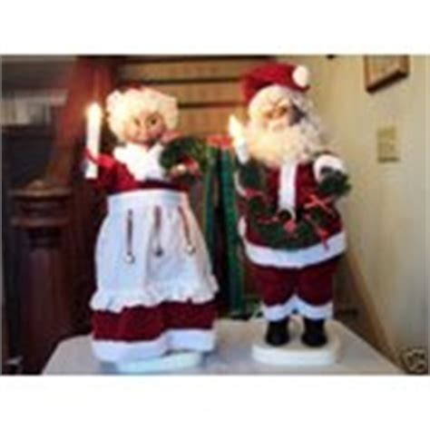 black mr mrs santa claus animated light figure 24 quot box 11