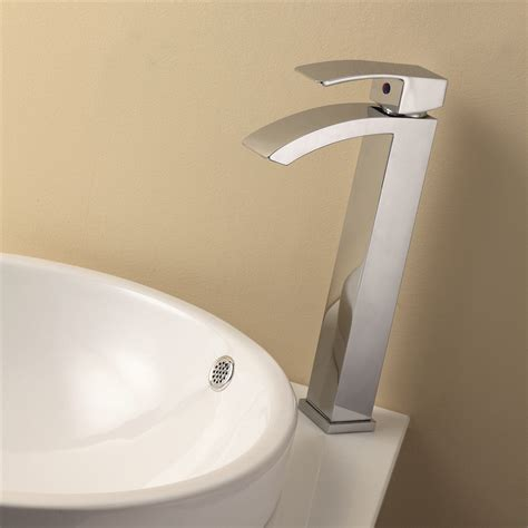 Wide Bathroom Sink Two Faucets by Aqua Balzo Wide Spread Bathroom Vessel Sink Faucet Chrome