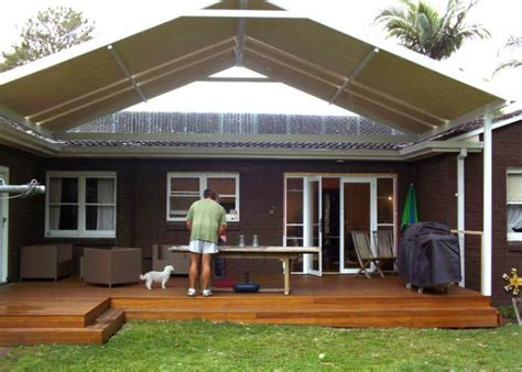 gable awning gable awning on deck shade sails pergolas covers pinterest