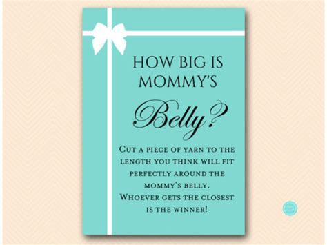 Tiffany Baby Shower Games Package Deal   Magical Printable