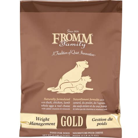 weight management fromm fromm gold food weight management 15 lb healthypets