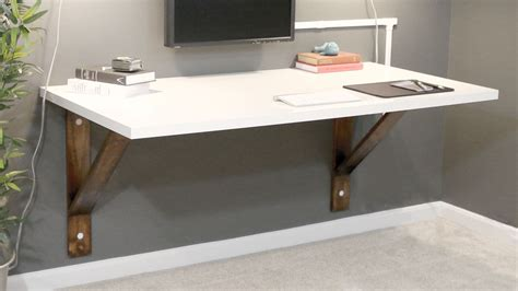Build A Wall Mounted Desk Diywithrick Diy Furniture Wall Desk Diy