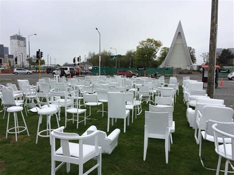 Chair Memorial Christchurch by 185 Empty White Chairs Earthquake Memorial Christchurch