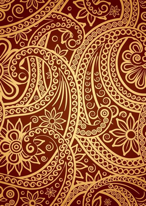 gold indian pattern india ham pattern vector free vector 4vector