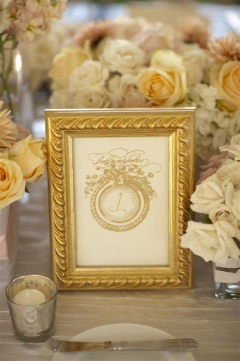 gold table number frames gold frame gold table numbers gold centerpieces silver