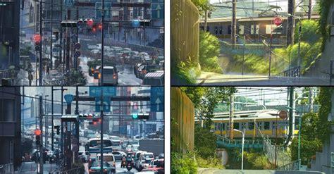 tokyo as seen through the animated film the garden of
