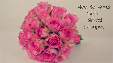 diy bridal bouquet hand tied wedding flowers using fresh