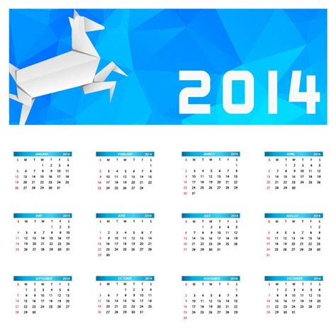 calendar new design vector 2014 new year calendar vector illustration free vector