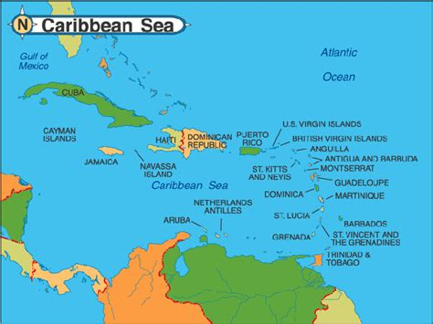 map caribbean caribbean map detailed travel map of caribbean islands travelquaz