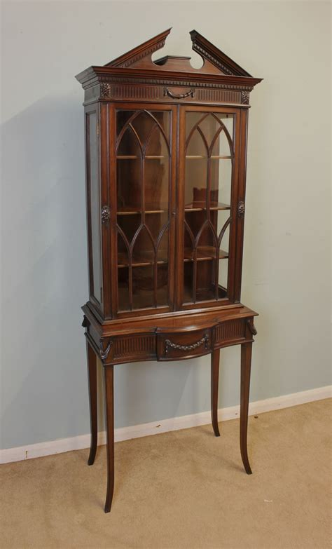 small antique china cabinet edwardian bookcase china cabinets for small spaces
