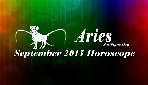september 2015 aries monthly horoscope sun signs