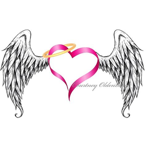 tattoo with angel wings and heart 17 best images about winged heart tattoos on pinterest