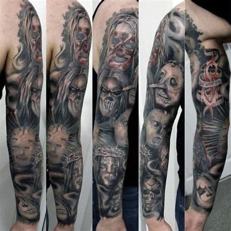 tattoo arm metal 50 slipknot tattoos for men heavy metal band design ideas