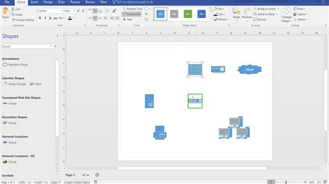 how to create a basic network diagram in visio 2016 youtube