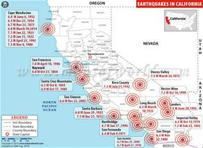california earthquake map map2
