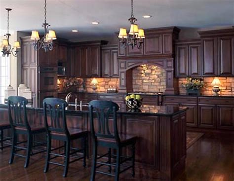 dark kitchen ideas backsplash idea for dark cabinets the kitchen design