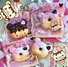 Squishy Jumbo Owl Boo Owl Pink Rize 1 yummiibear icecream mascot creamiicandy squishy kawaii stuff shop toys