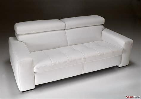 divano bianco in pelle divano moderno bianco squadrato in vera pelle