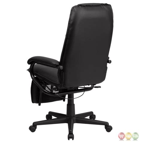 black leather office chair recliner high back black leather executive reclining office chair