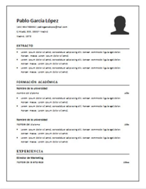 Plantilla De Curriculum Lista Para Rellenar Curriculum Vitae Cronol 243 Gico 21 Plantillas Para Descargar Gratis