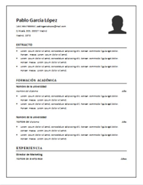 Plantillas De Resumen Curriculum Para Rellenar Curriculum Vitae Cronol 243 Gico 21 Plantillas Para Descargar Gratis