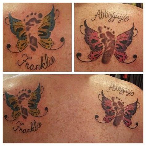 footprint butterfly tattoo baby footprint butterfly tattoos i done