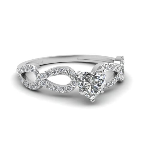 Infinity Loop Heart Shaped Diamond Side Stone Engagement