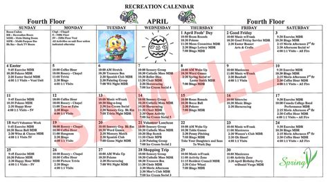 image gallery nursing home activity calendar
